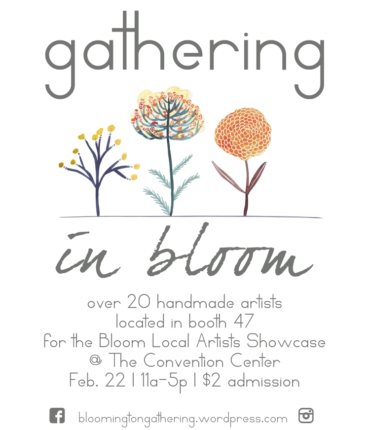 gathering in bloom poster copy