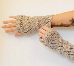 Mrs. Elton's Lace Garden gloves