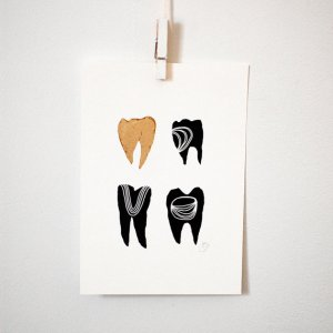 Gold Symbolic Teeth I